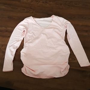 Light Pink Old Navy Maternity Long Sleeve T